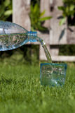 Mineral water. Bottle and glass with mineral water Stock Photo