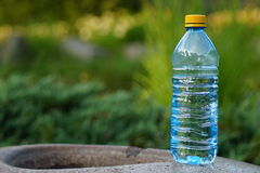 Mineral water in a bottle on a hot day Stock Photography