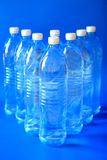 Mineral water bottles Stock Image