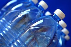 Mineral water bottles Stock Photo