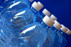 Mineral water bottles Royalty Free Stock Photos