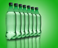 Mineral water bottles Royalty Free Stock Photography