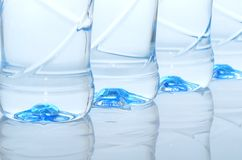 Mineral water. Bottles close-up Royalty Free Stock Photos