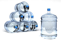 Mineral water containers Stock Image