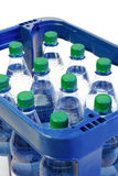 Mineral water crate Stock Images