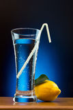 Mineral water and lemon Stock Image