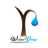 Mineral water logo. Isolated abstract mineral water drop logo, Vector illustration Stock Images