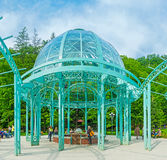 The mineral water pavilion in Borjomi stock images