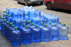 Mineral water placed on the roadside Royalty Free Stock Images
