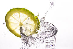Mineral water splash Royalty Free Stock Photos