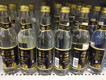 The mineral water in the supermarket Stock Images