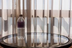Mineral water at the table stock photos