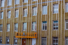 Mineral wool insulated facade Stock Photo