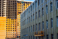 Mineral wool insulated facade Stock Photos
