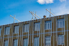 Mineral wool insulated facade Royalty Free Stock Photography
