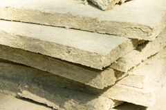 Mineral wool. Material for insulation of buildings.  stock photo