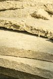Mineral wool. Material for insulation of buildings.  royalty free stock photo