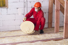 Mineral wool packing Stock Images