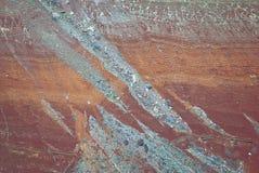 Mineralablagerungen im Grand Canyon stockfoto