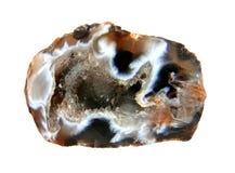 Mineralachat auf einem weißen Hintergrund Lizenzfreie Stockbilder