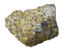 Mineralansammlung: Chalcopyrite. Stockfotografie