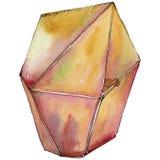 Minerale arancio dei gioielli della roccia del diamante Fotografie Stock