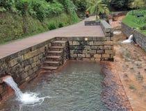 Minerale de lentekanalisatie bij Sao Miguel Island Royalty-vrije Stock Afbeeldingen