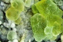Minerale della fluorite Fotografia Stock