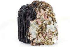 Minerale della tormalina fotografie stock