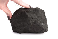 Minerale di Schungite Fotografie Stock Libere da Diritti