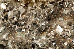 Minerale dorato della pirite Immagine Stock