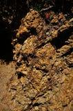 Minerale metallifero crudo di alluminio in natura, laterite, isola di Giglio, Italia Fotografia Stock Libera da Diritti