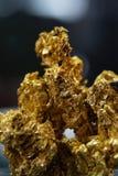 Minerale metallifero dell'oro Immagine Stock Libera da Diritti