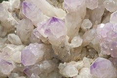 Minerale metallifero di cristallo Fotografie Stock