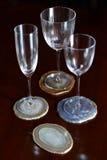 Minerale onderleggers voor glazen Royalty-vrije Stock Afbeeldingen