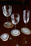 Minerale onderleggers voor glazen Royalty-vrije Stock Afbeelding