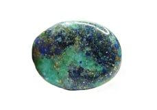 Minerale semiprezioso della malachite di Azur fotografia stock