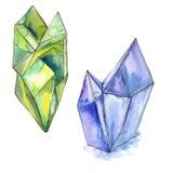 Minerale variopinto dei gioielli della roccia del diamante Fotografie Stock
