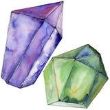 Minerale variopinto dei gioielli della roccia del diamante Fotografia Stock