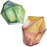 Minerale variopinto dei gioielli della roccia del diamante Immagini Stock Libere da Diritti