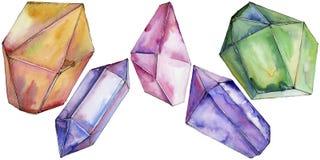 Minerale variopinto dei gioielli della roccia del diamante Immagine Stock