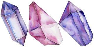 Minerale variopinto dei gioielli della roccia del diamante Fotografie Stock Libere da Diritti