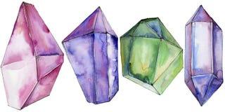 Minerale variopinto dei gioielli della roccia del diamante Fotografia Stock Libera da Diritti
