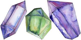 Minerale variopinto dei gioielli della roccia del diamante Immagini Stock