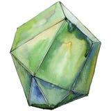 Minerale verde dei gioielli della roccia del diamante Fotografie Stock Libere da Diritti