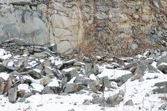 Mineraler i karriär på produktion av en konstruktionssten Arkivfoto