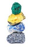 Minerales aislados Imágenes de archivo libres de regalías