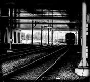 Minerales del carbón del tren del cargo que llevan fotos de archivo libres de regalías
