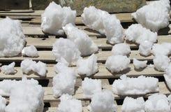 Minerales del cristal de la sal Foto de archivo