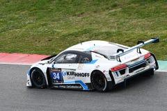 12 minerales Hankook Mugello 18 de marzo de 2017: Motorsport de la colección del coche #34, Audi R8 LMS Foto de archivo